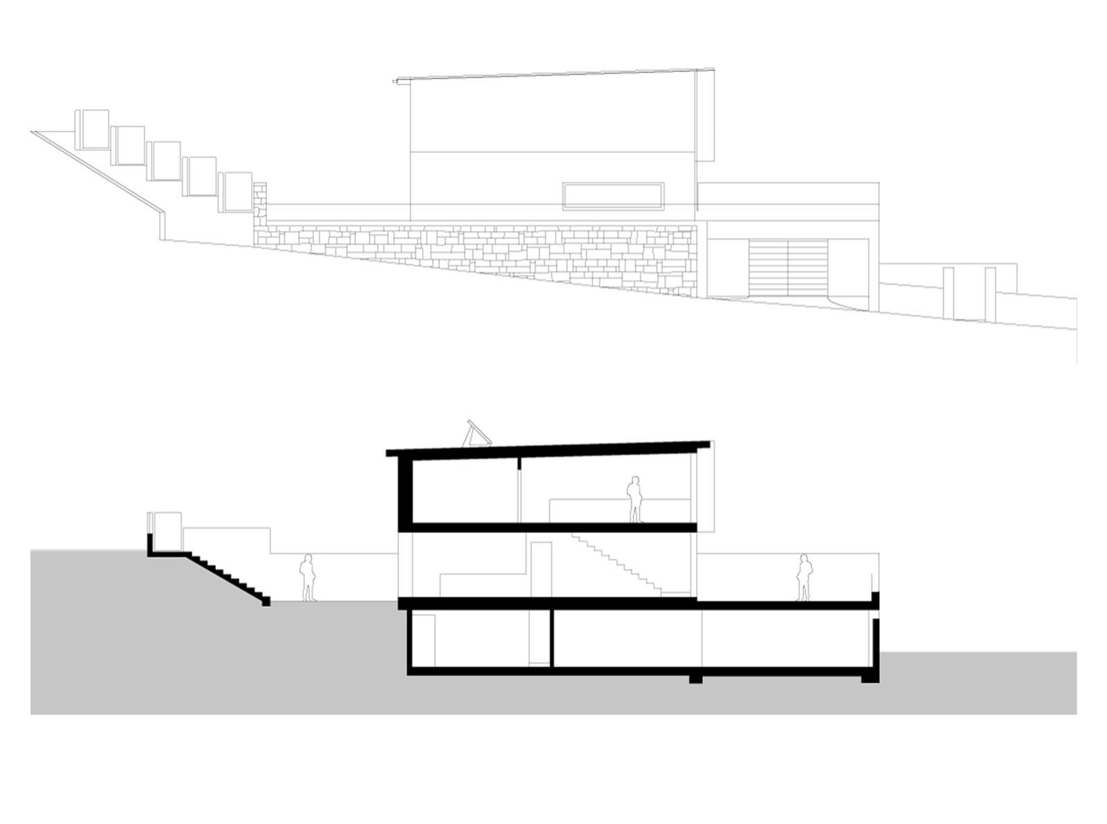 sezione case schiera Biasca Ivano Gianola